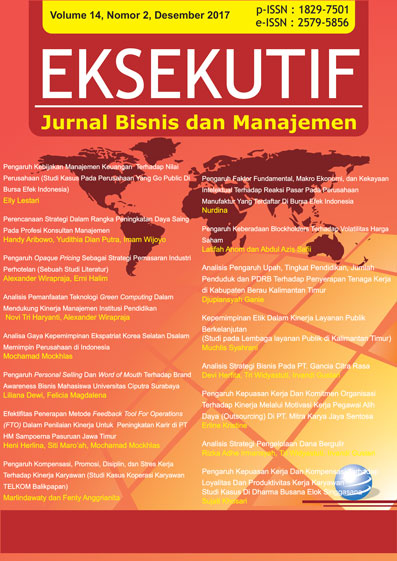 Jurnal Eksekutif Volume 14